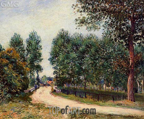 The Path from Saint-Mammes, Morning, 1890 | Alfred Sisley | Gemälde Reproduktion