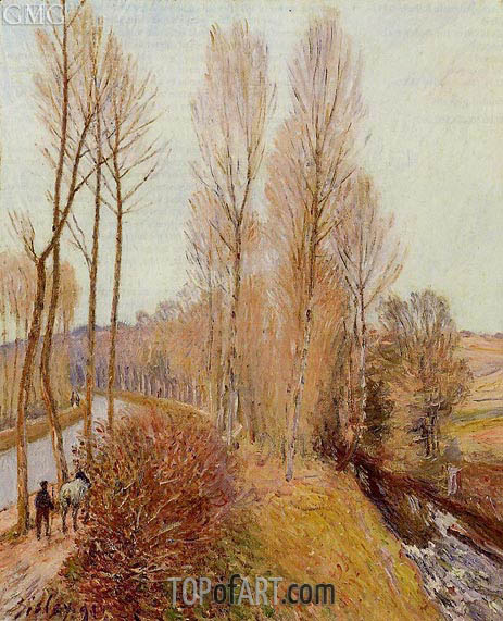 Path along the Loing Canal, 1891 | Alfred Sisley | Painting Reproduction
