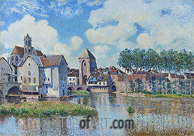 Alfred Sisley | Moret-sur-Loing, 1891