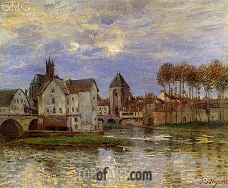 Alfred Sisley | The Moret Bridge at Sunset, 1892