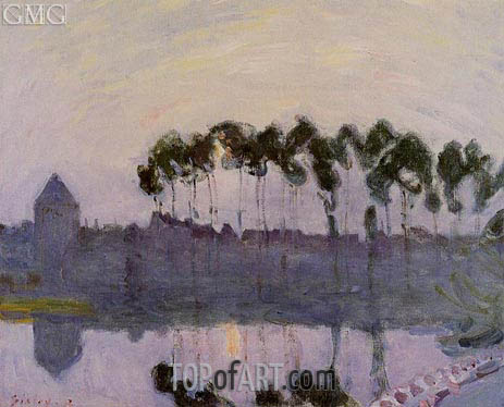 Setting Sun at Moret, 1892 | Alfred Sisley | Painting Reproduction