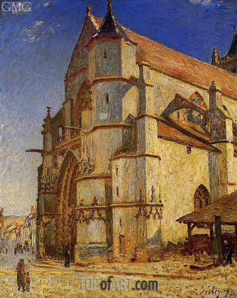 The Church at Moret in the Morning Sun, 1893 | Alfred Sisley | Painting Reproduction