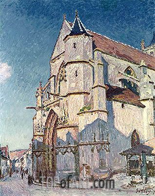 Alfred Sisley | The Church at Moret, 1894