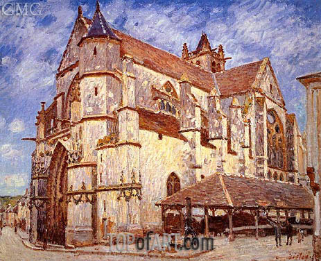 Alfred Sisley | The Church at Moret, Afternoon, 1894