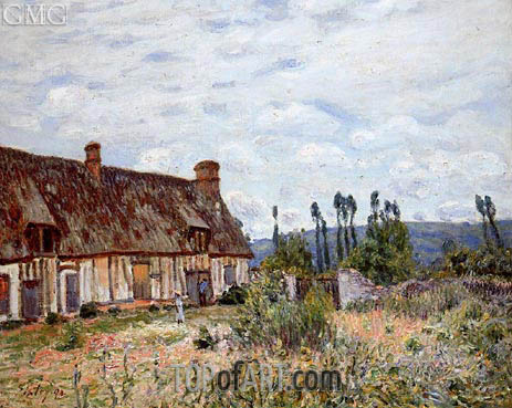 The Abandoned Cottage, 1894 | Alfred Sisley | Gemälde Reproduktion