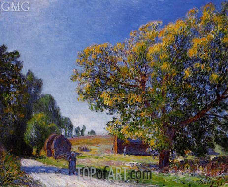 The Fields around the Forest, 1895 | Alfred Sisley | Gemälde Reproduktion