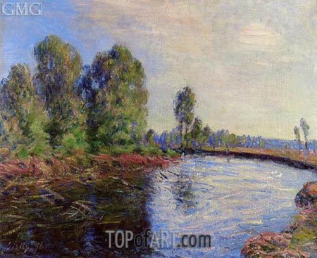 The Banks of the Loing, 1896 | Alfred Sisley | Painting Reproduction