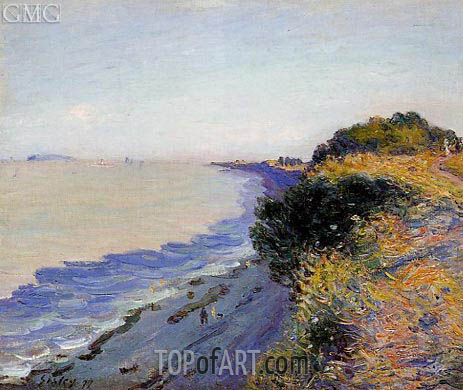 Bristol Channel from Penarth, Evening, 1897 | Alfred Sisley | Gemälde Reproduktion