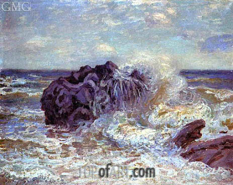 The Wave: Lady's Cove, Landland Bay, 1897 | Alfred Sisley | Painting Reproduction