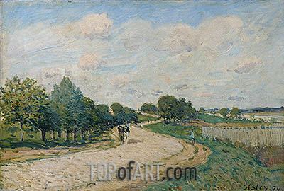 The Road to Mantes, 1874 | Alfred Sisley| Painting Reproduction