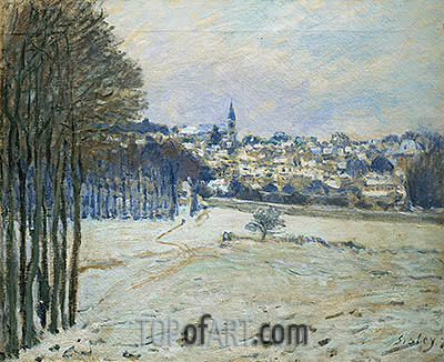 Snow at Marly-le-Roi, 1875 | Alfred Sisley| Gemälde Reproduktion