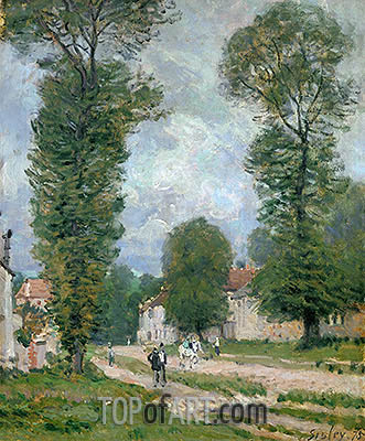 The Road to Versailles, 1875 | Alfred Sisley | Gemälde Reproduktion