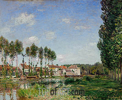 Moret, Banks of the Loing, 1892 | Alfred Sisley| Painting Reproduction