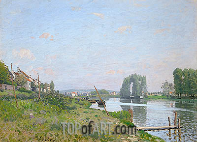L'Isle Saint-Denis, 1872 | Alfred Sisley| Painting Reproduction