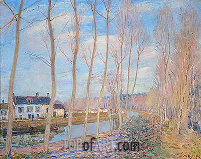 The Canal at Loing, 1892 | Alfred Sisley| Gemälde Reproduktion