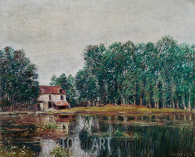 The Banks of the Canal at Moret-sur-Loing, 1892 | Alfred Sisley | Painting Reproduction