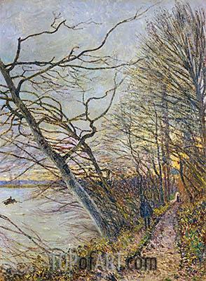 Alfred Sisley | Le Bois des Roches, Veneux-Nadon, 1880