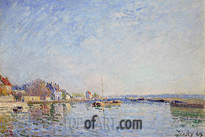 Canal du Loing, 1884 | Alfred Sisley| Painting Reproduction