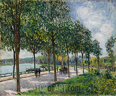 Allée of Chestnut Trees, 1878 | Alfred Sisley | Painting Reproduction