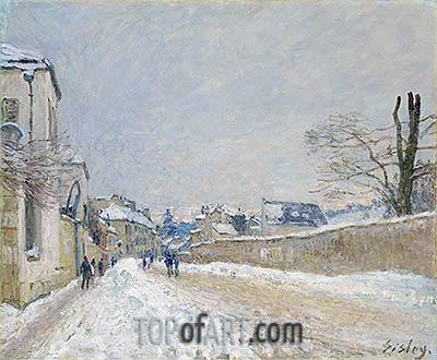 Alfred Sisley | Rue Eugène Moussoir at Moret: Winter, 1891