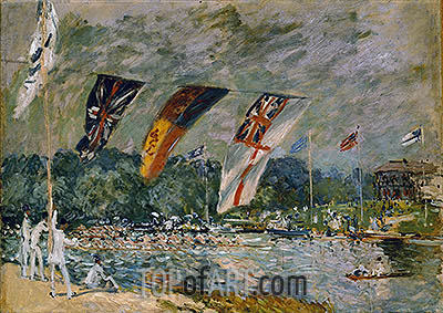 Regatta at Molesey, near Hampton Court, 1874 | Alfred Sisley| Gemälde Reproduktion