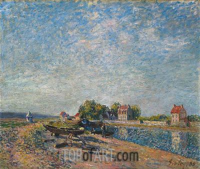 Alfred Sisley | Saint-Mammès, Canal du Loing, 1885