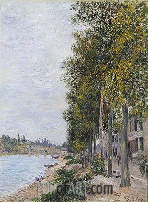 Alfred Sisley | Road Along the Seine at Saint-Mammes, c.1880