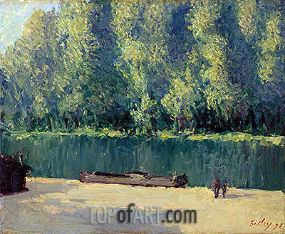 Banks of the Loing, 1891 | Alfred Sisley| Gemälde Reproduktion