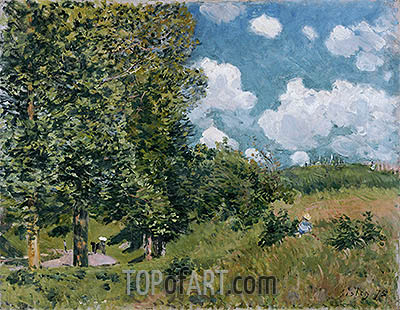 The Road from Versailles to Saint-Germain, 1875 | Alfred Sisley | Gemälde Reproduktion