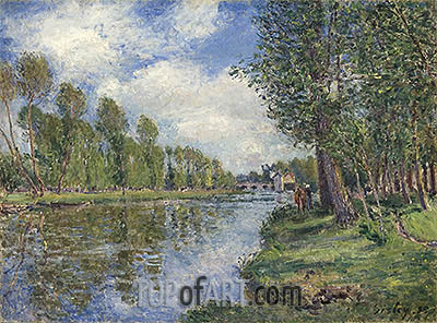 Banks of the Loing River, 1885 | Alfred Sisley | Painting Reproduction