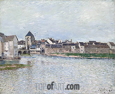 Bridge at Moret-sur-Loing, 1891 | Alfred Sisley| Painting Reproduction