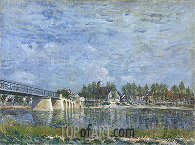 The Bridge at Saint-Mammes, 1881 | Alfred Sisley | Painting Reproduction