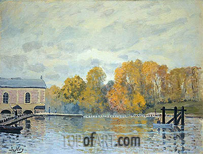 Waterworks at Marly, c.1876 | Alfred Sisley | Painting Reproduction