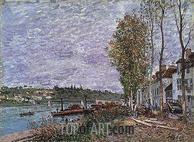 Overcast Day at Saint-Mammès, c.1880 | Alfred Sisley | Painting Reproduction