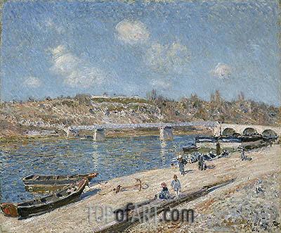 Alfred Sisley | The Beach at Saint-Mammès, 1884