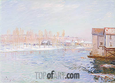 Landscape: Snow Scene, 1891 | Alfred Sisley| Painting Reproduction