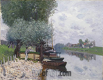 The Seine at Bougival, 1872 | Alfred Sisley | Painting Reproduction