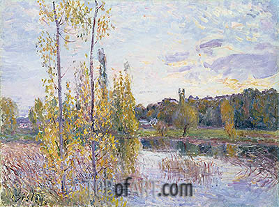 The Lake at Chevreuil, 1888 | Alfred Sisley | Gemälde Reproduktion
