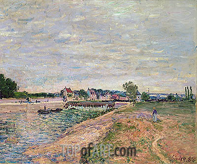Saint-Mammes, 1885 | Alfred Sisley| Painting Reproduction