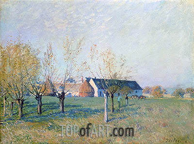 The Farm, 1874 | Alfred Sisley | Painting Reproduction