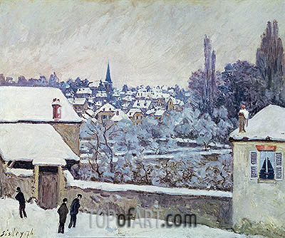 Winter in Louveciennes, 1876 | Alfred Sisley | Painting Reproduction