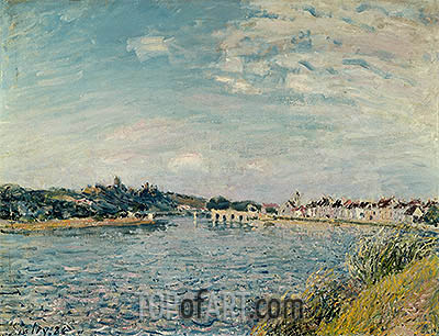 Landscape at Saint-Mammes, 1888 | Alfred Sisley| Painting Reproduction
