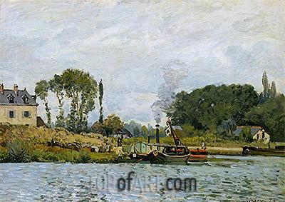 Alfred Sisley   Boats at the Lock at Bougival, 1873
