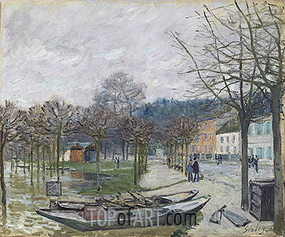Alfred Sisley   The Flood at Port-Marly, 1876