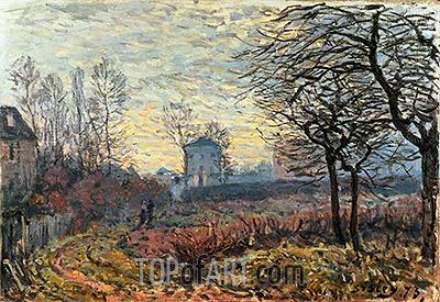 Alfred Sisley   Landscape near Louveciennes, 1873