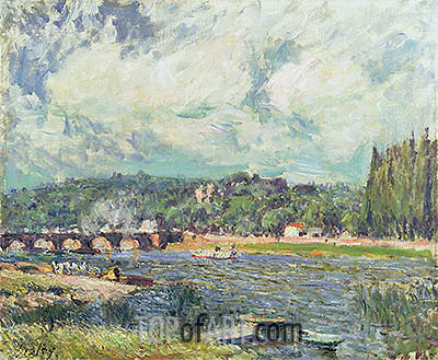The Bridge at Sevres, c.1877 | Alfred Sisley| Painting Reproduction
