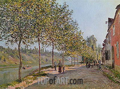 June Morning in Saint-Mammes, 1884 | Alfred Sisley| Gemälde Reproduktion