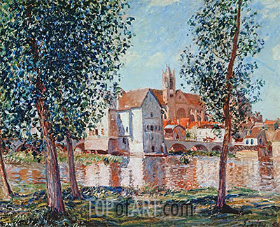 The Loing at Moret, September Morning, 1888 | Alfred Sisley | Painting Reproduction
