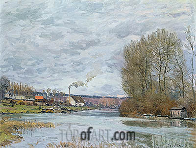 The Seine at Port Marly, 1873 | Alfred Sisley | Painting Reproduction
