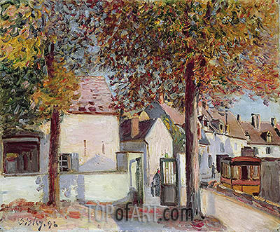 Moret-sur-Loing (Rue de Fosses), 1892 | Alfred Sisley | Painting Reproduction